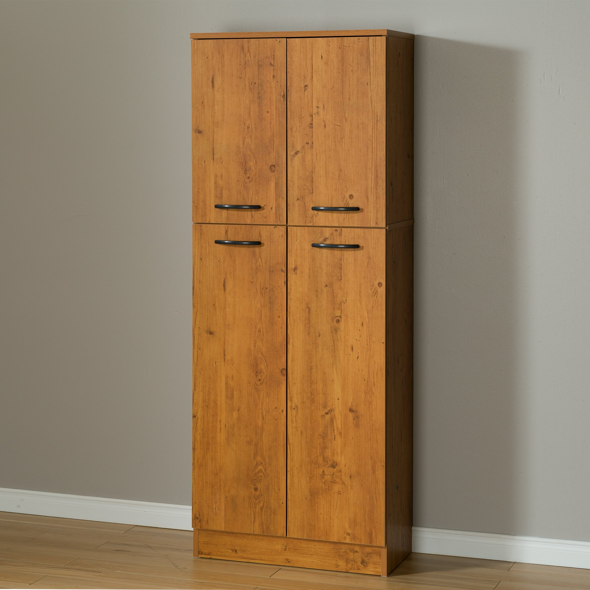 South Shore Axess 4-Shelf Pantry Storage, Country Pine by South Shore (Image #1)