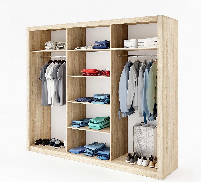 Schwebet/ürenschrank Kleiderschrank ID-01 IDEA Garderobe Schrank mit Spiegel furniture24 wei/ß matt