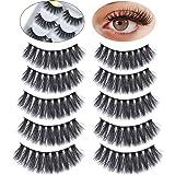 Eyelashes Faux Mink Dramatic Makeup Thick Long Multilayer Fluffy False Eyelashes Pack of 5 Pairs