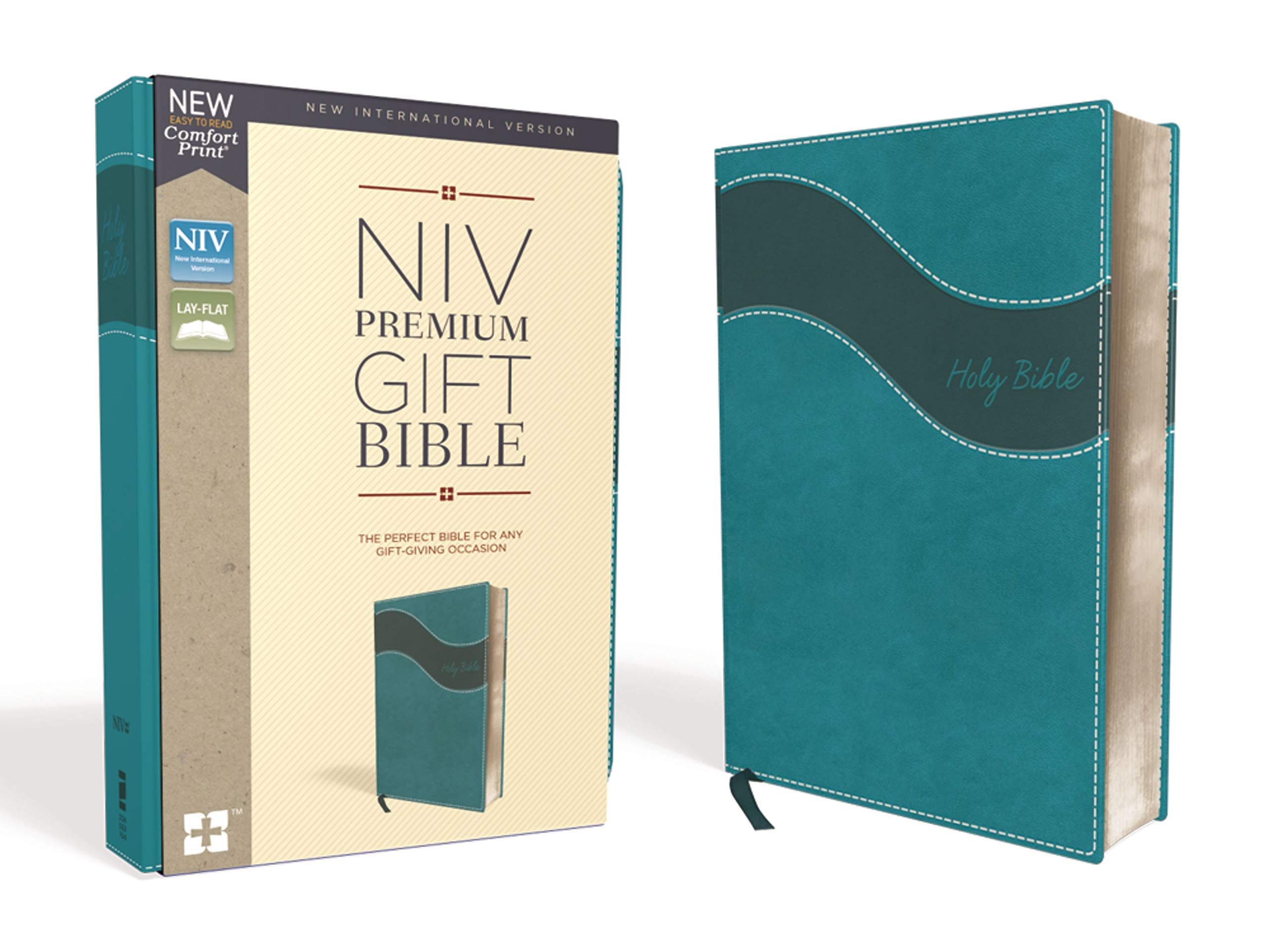 NIV, Premium Gift Bible, Leathersoft, Teal, Red