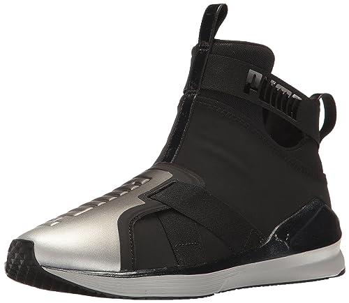 6c212bcdd574 PUMA Women s Fierce Strap Metallic WN s Cross-Trainer Shoe Black Silver