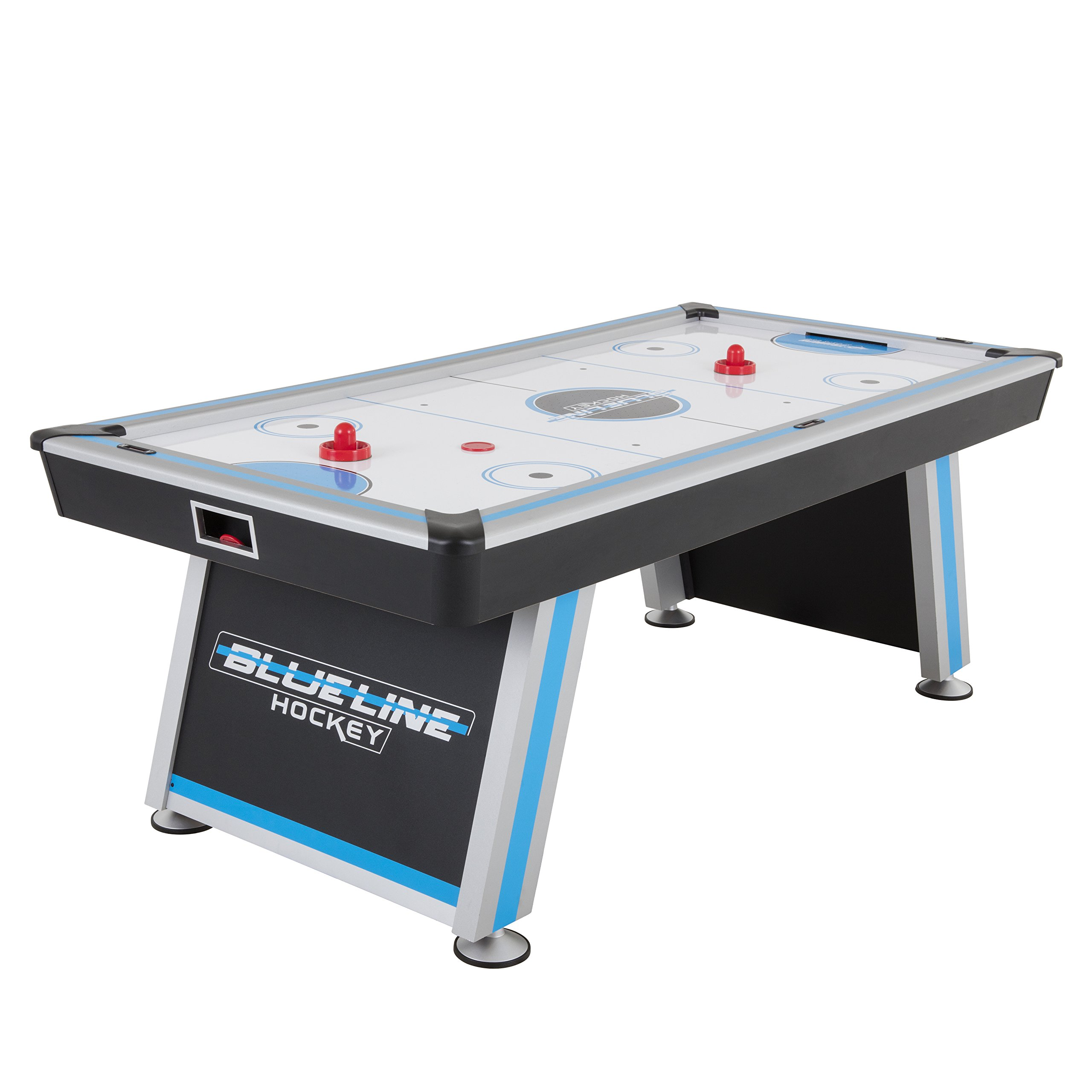 Triumph Blue-Line 7' Air-Powered Hockey Table with 100V Motor and Includes Two Hockey Pushers and Two Pucks by Triumph Sports