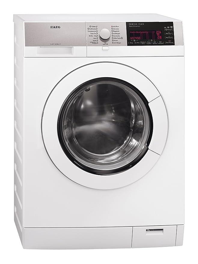 AEG L98485FL - Lavadora (Independiente, Color blanco, Frente, 8 kg ...