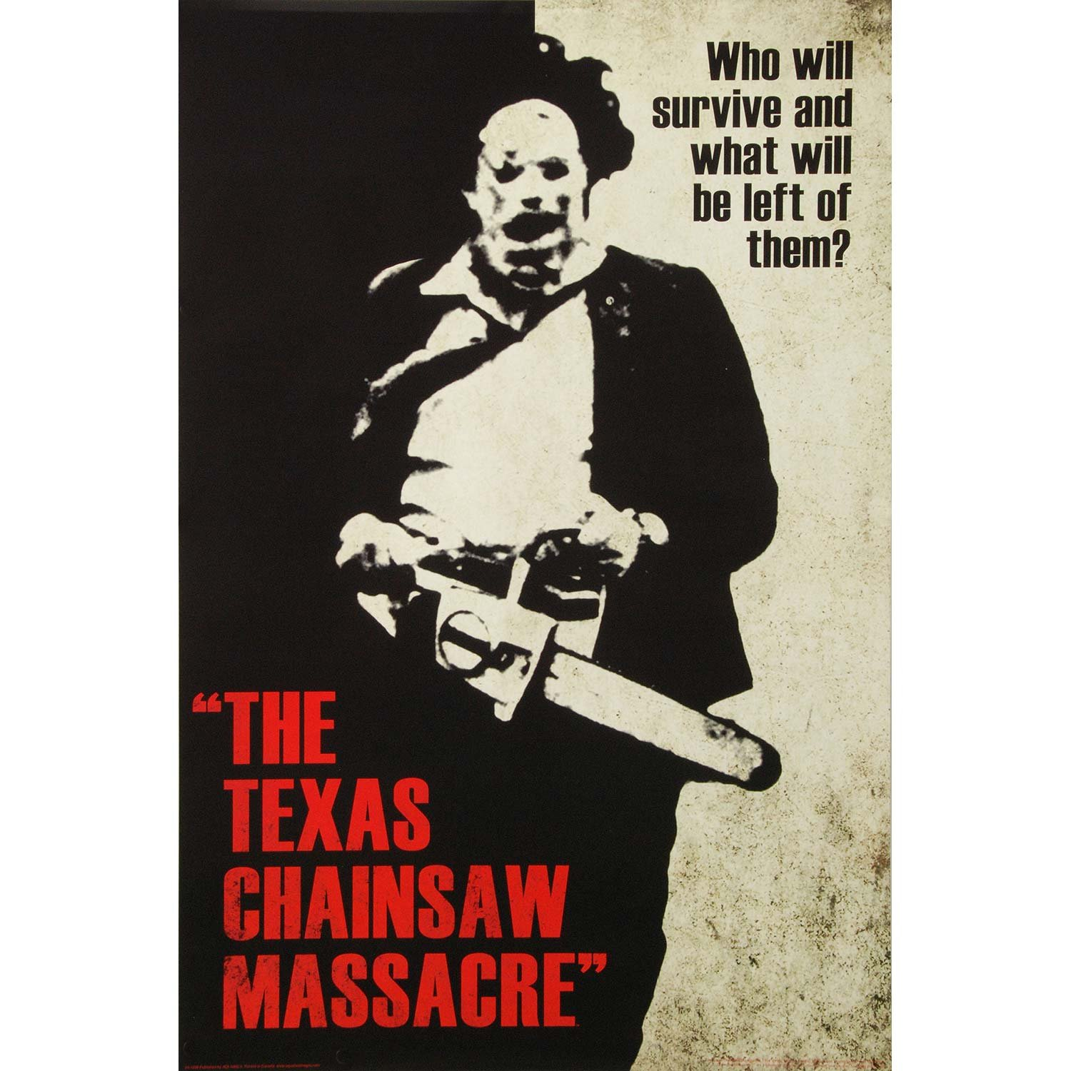 Texas Chainsaw Massacre- Leatherface Silhouette Poster 24 x 36in