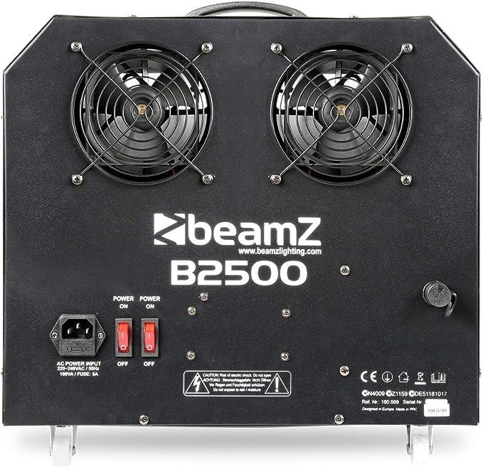 BEAMZ 160569 B2500 Maquina de burbujas doble