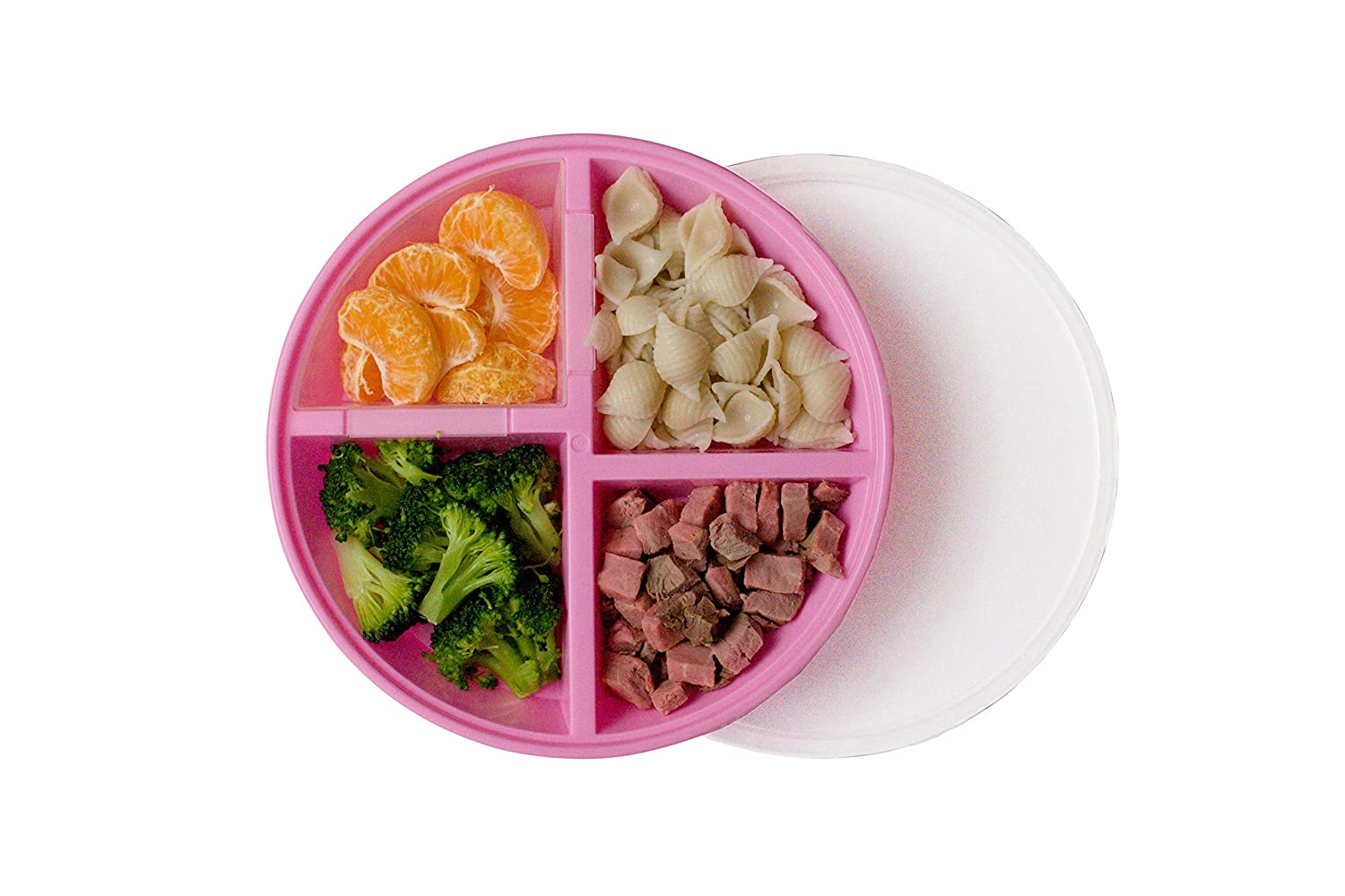 Hot Sale Munchkin Balanced Meal Toddler Divided Plate Fruits Grains Proteins Veggies Bowls & Plates