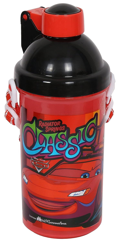 Disney & Marvel Cars Plastic Sipper Water Bottle, 500ml, Multicolour