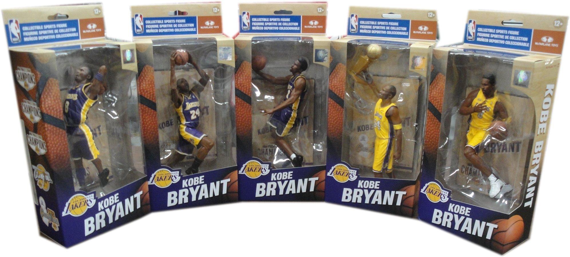 Kobe Bryant 5 NBA Finals LA Lakers McFarlane Championship Series Figure Set/3000