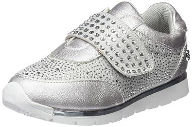 554580, Mädchen Slip on Sneaker, Silber, 28 EU
