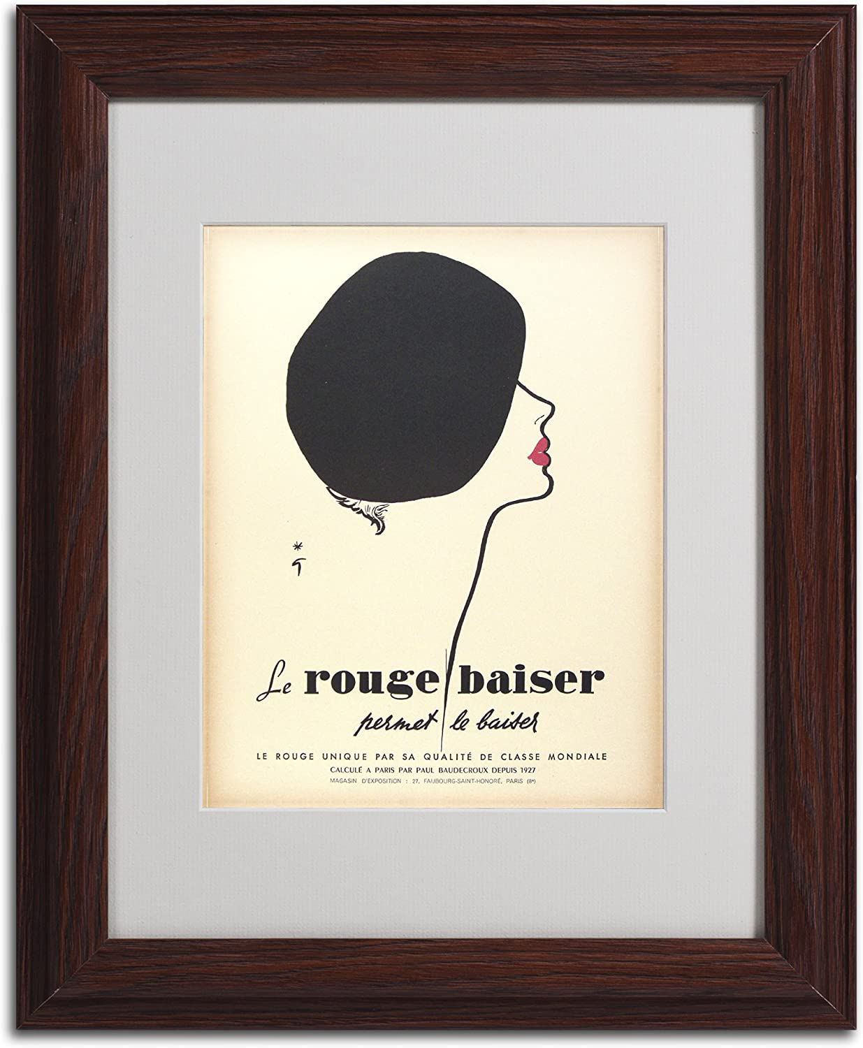Poster Reproduction. Wall art vintage French Advertising Saharet
