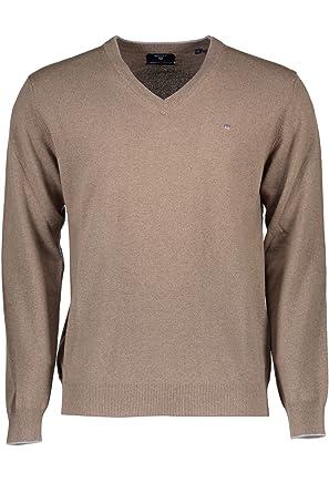 Grauer Pullover mit Kaschmir für Herren von GANT