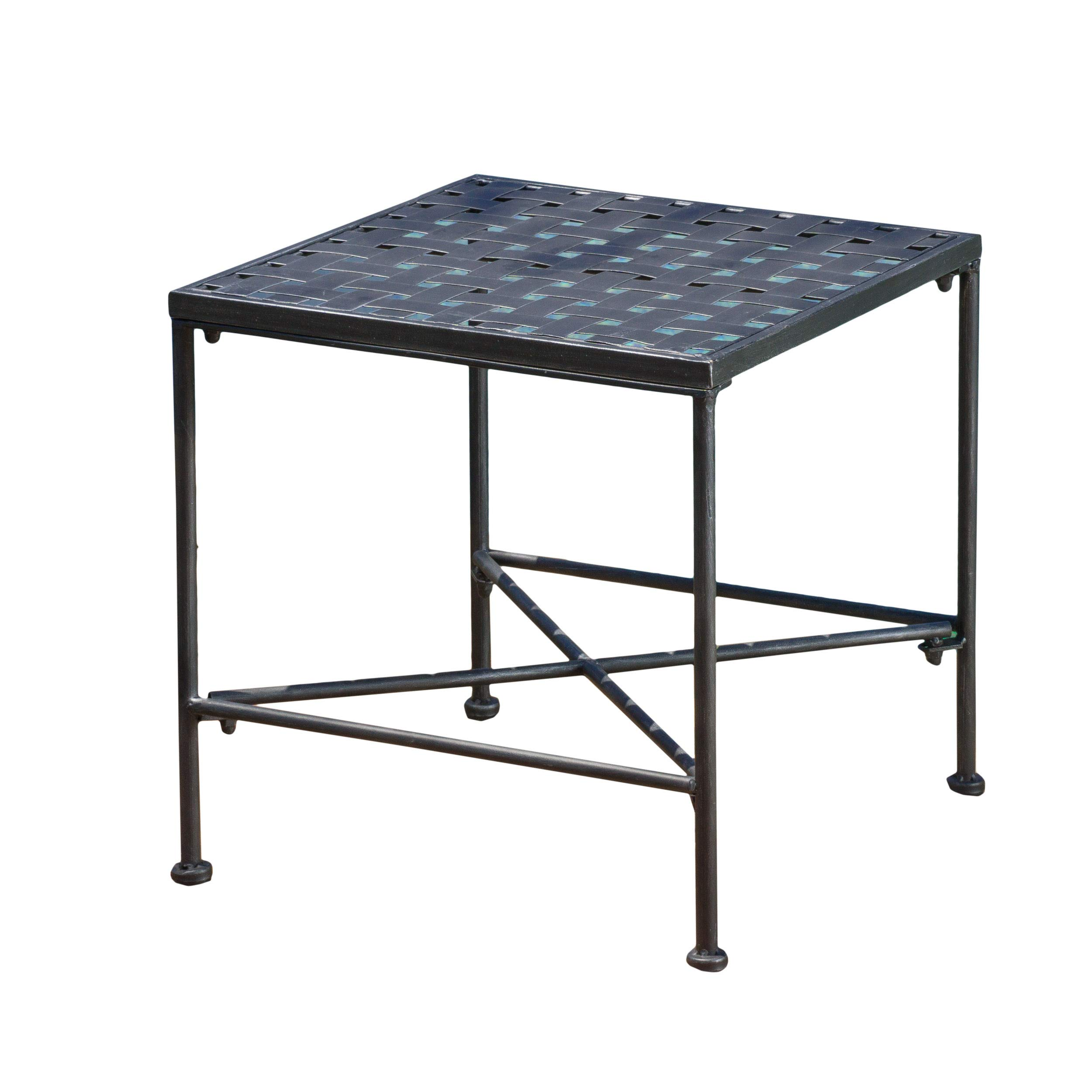 Christopher Knight Home Kent Outdoor Black Iron End Table