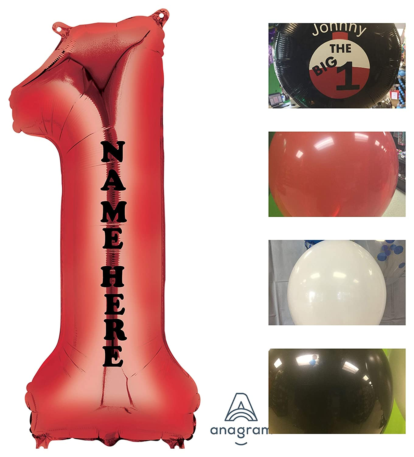 Amazon Big 1 Balloon Red The One