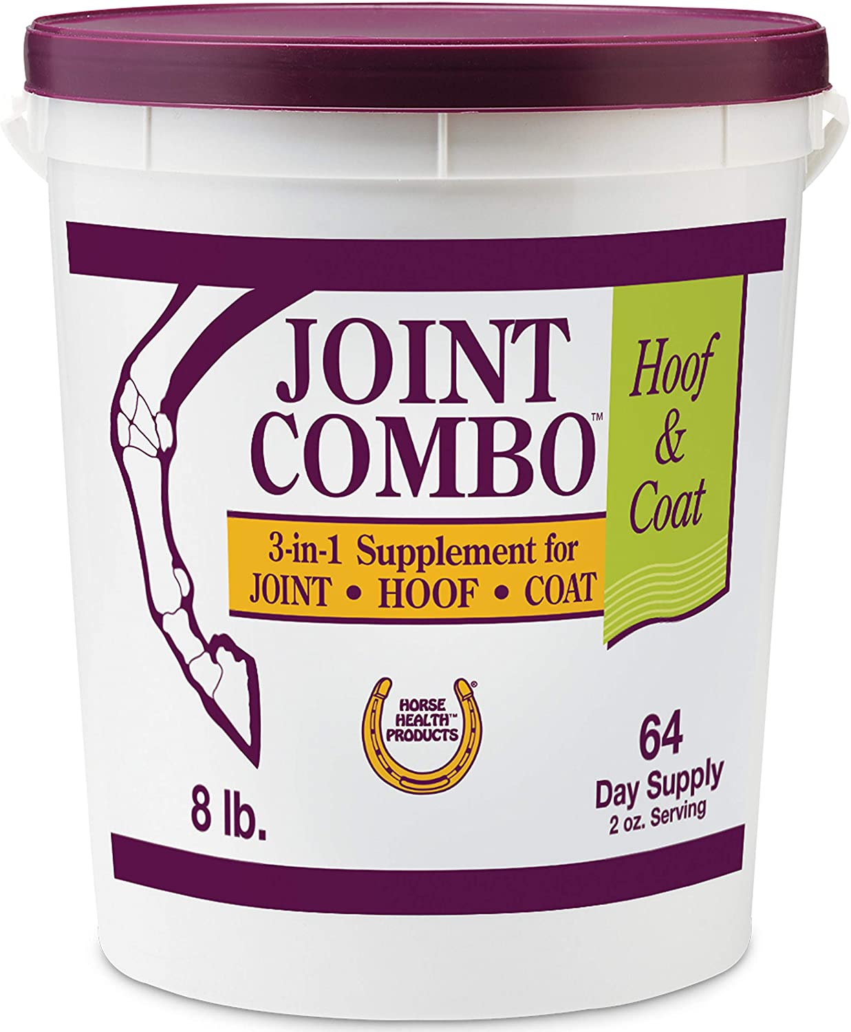 Horse Health Joint Combo Hoof & Coat, convenient 3-in-1 supplement for complete joint, hoof and coat care, 8 pound : Pet Supplements And Vitamins : Pet Supplies