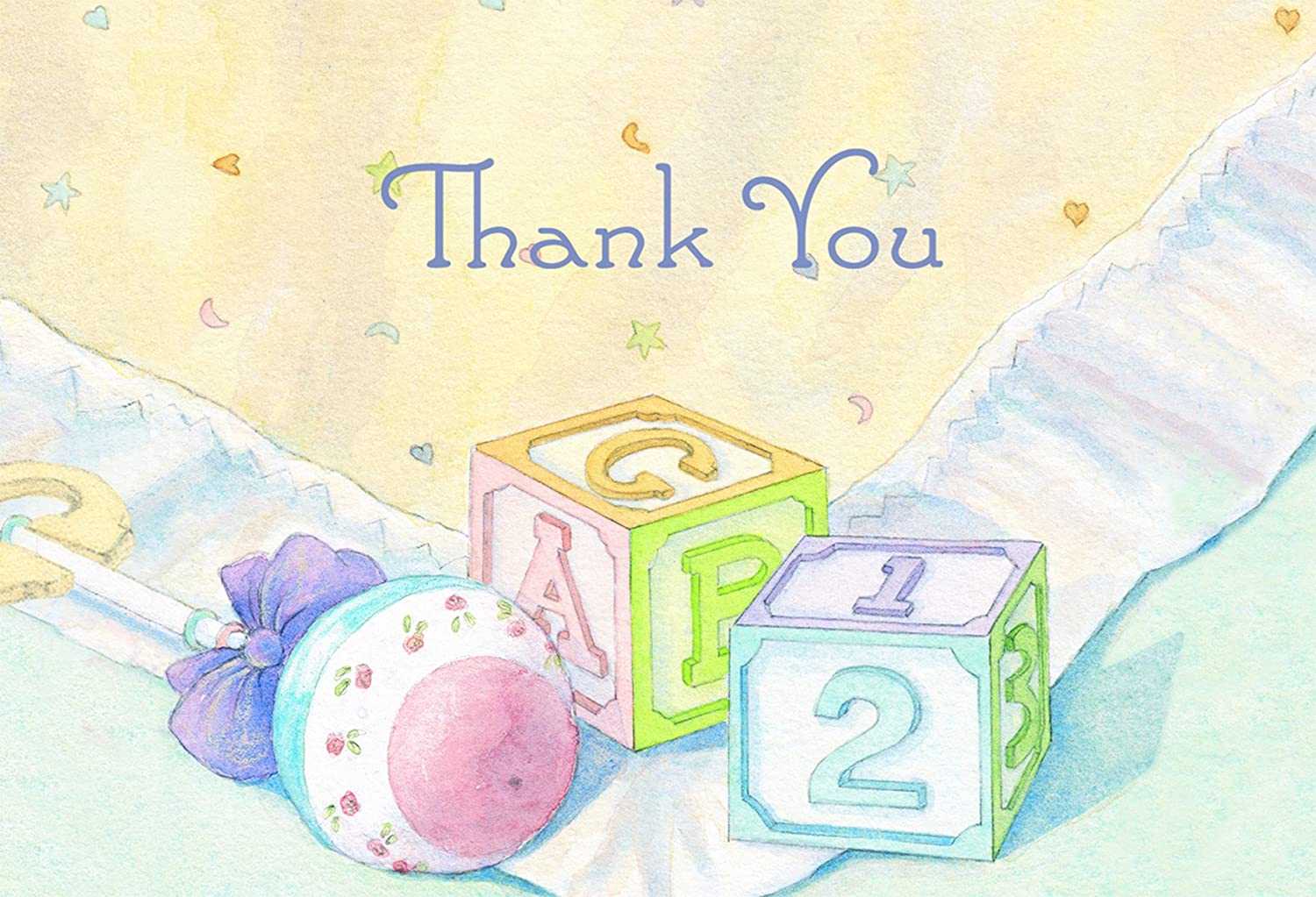 Hortense B. Hewitt 24 Count Baby Blocks Thank You Note Cards 10668