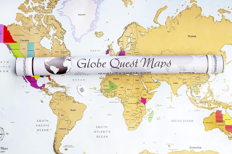 Mapa mundi para rascar | Colores vibrantes y textos en negrita ...