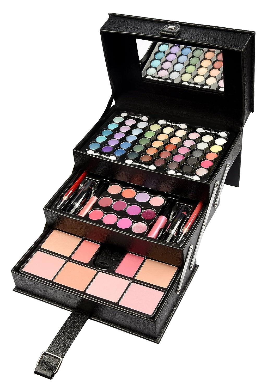 BriConti Professional Makeup Large Storage Vanity Case Set, Black Beauty, 82-Piece Schmink901