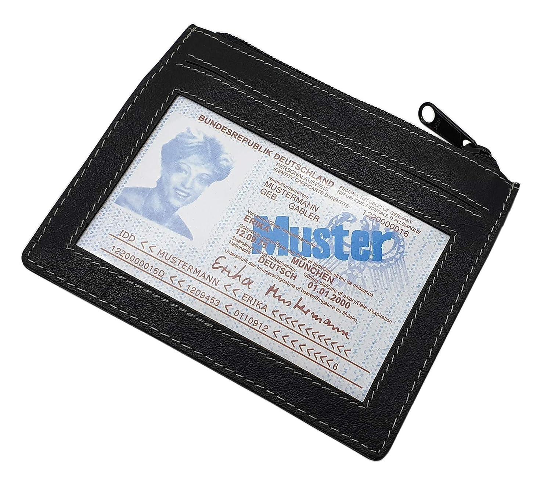 Cuir de buffle pochettes tour de cou MJ-Design-Germany en noir