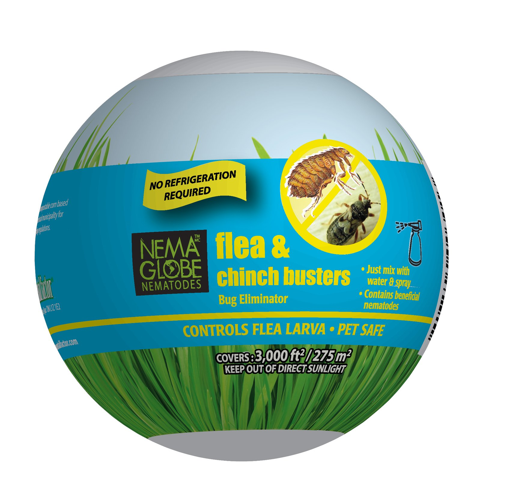 Nema Globe 100 Million Nematodes (Sc) - Flea Buster for Pest Control - New ''No Refrigeration Required'' Formula