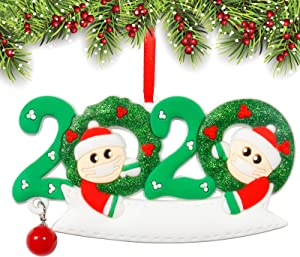 Christmas Decorations, 2020 Personalized Creative Christmas Ornament for Family Members, Christmas Tree Pendant, Home Party Holiday Finials, Xmas Gifts (2 People)