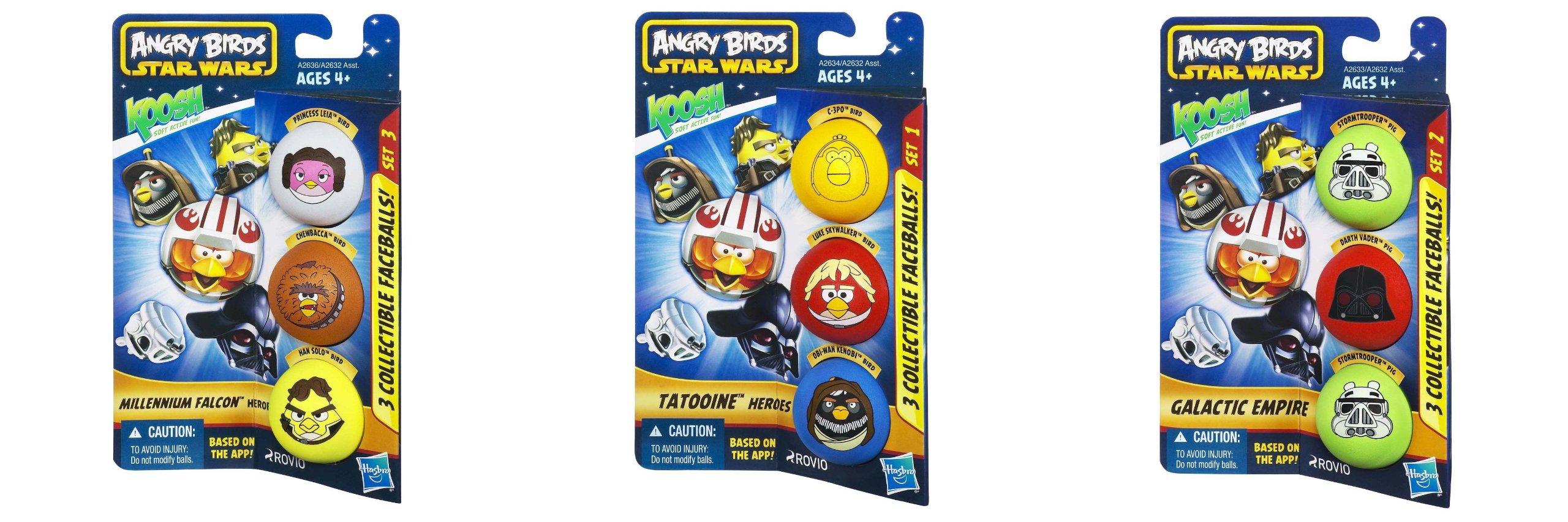 Star Wars Angry Birds Koosh Set of 9 Star Wars Character Balls Hasbro