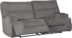 Signature Design by Ashley - Coombs Contemporary 2 Seat Reclining Sofa - Pull Tab Reclining, Gray