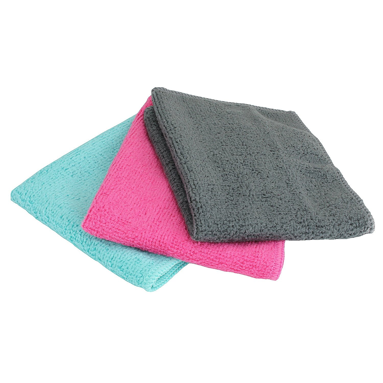 Face Cleansing Micro Fibre Travel Towel in Various Colours (Hot Pink Jelly, Mint Green Jelly/Anthracite) Reusable Cleaning Wipes for optimum care Soft Cosmetic for Gentle Skin Cleanser MACOSA HOME
