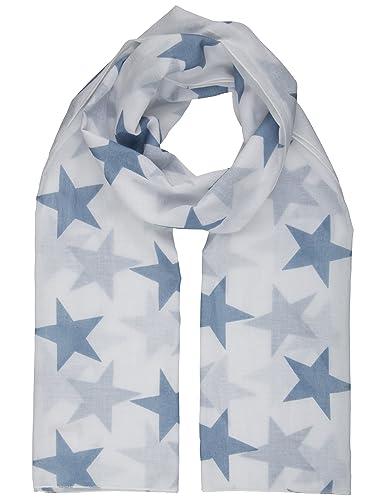 Berydale Fular de mujer, pañuelo de cuello con estrellas