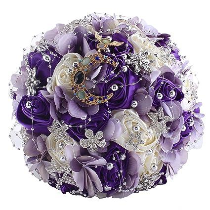 Amazon Com Zebratown 11 Artificial Rose Romantic Galaxy Wedding