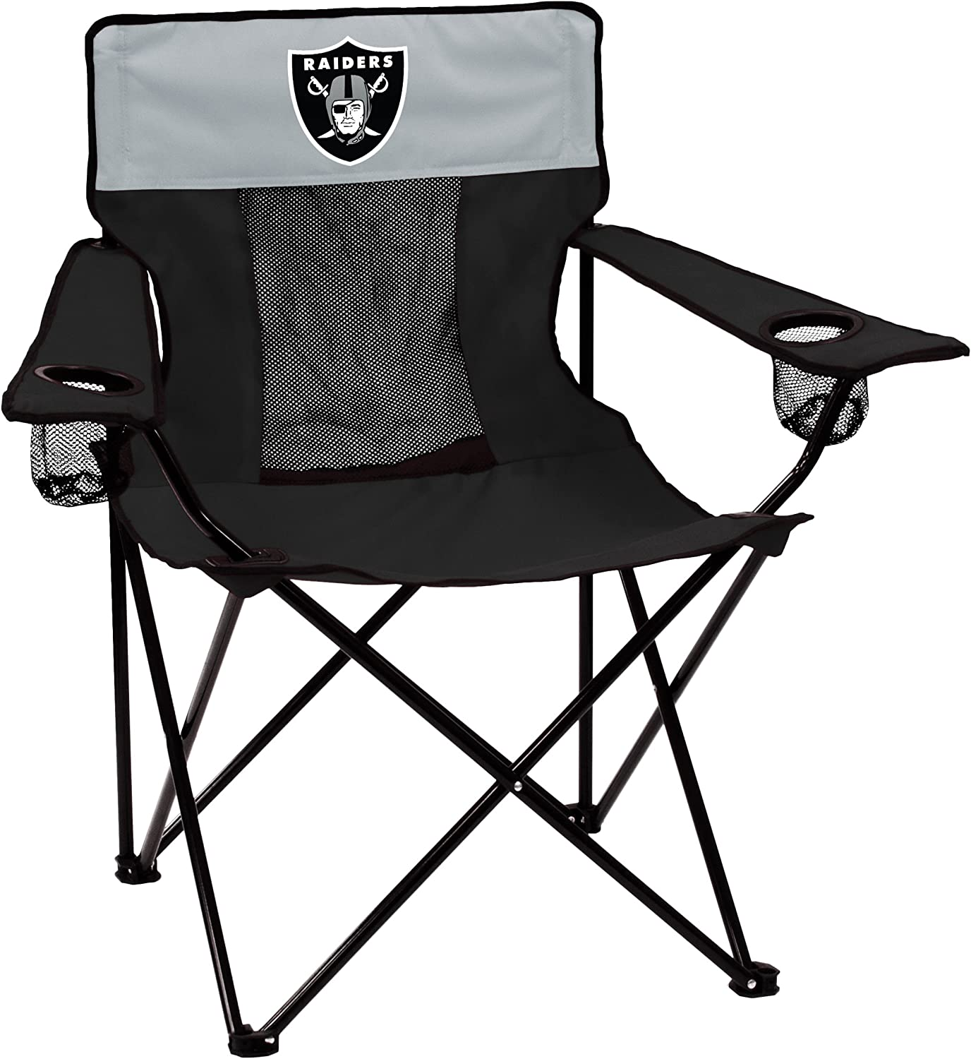 NFL Logo Brands Oakland Raiders Elite Chair, Team Color