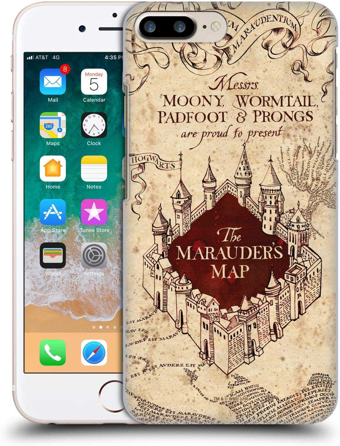 Head Case Designs Oficial Harry Potter The Marauder's Map Prisoner of Azkaban II Carcasa rígida Compatible con Apple iPhone 7 Plus/iPhone 8 Plus