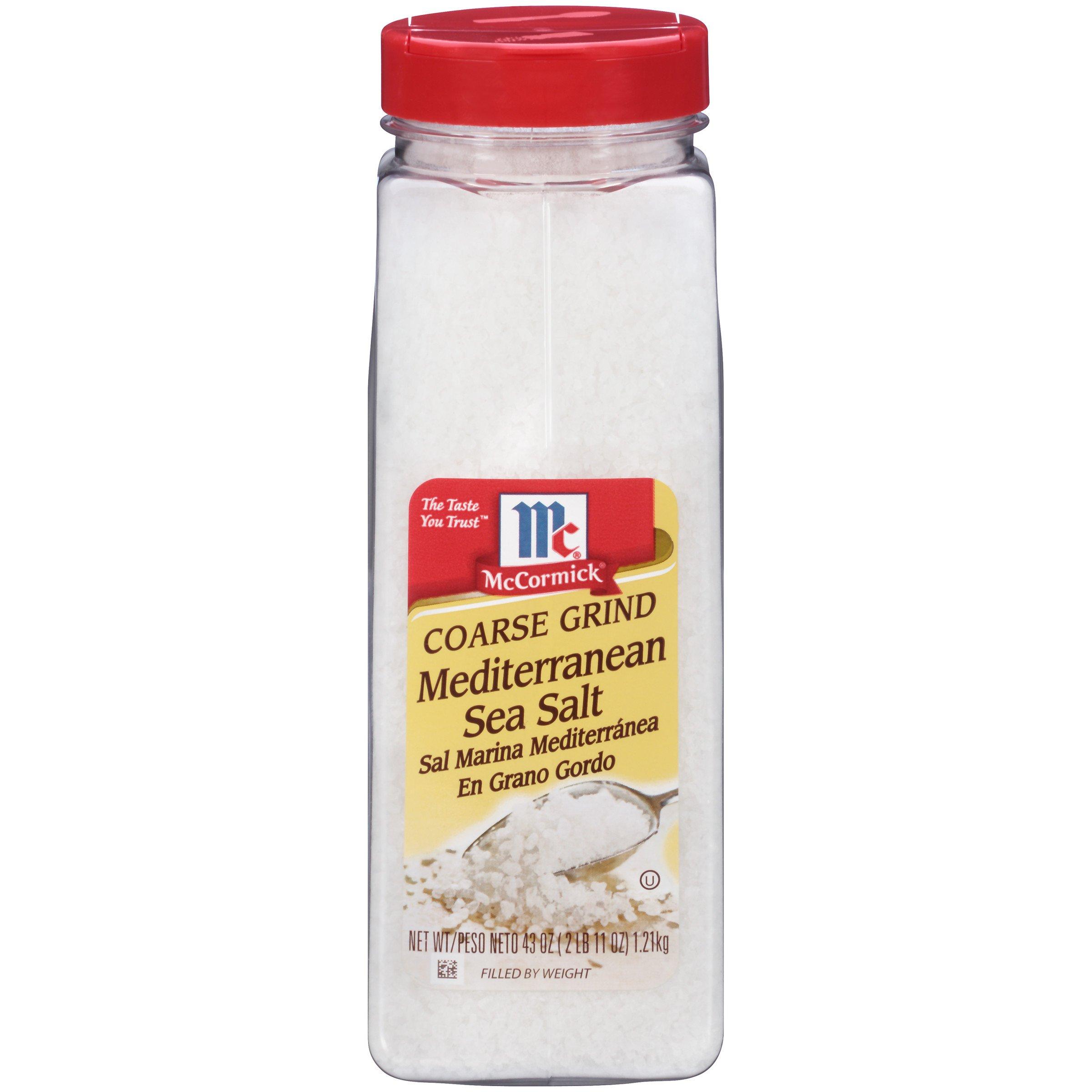 McCormick Coarse Grind Mediterranean Sea Salt, 43 oz