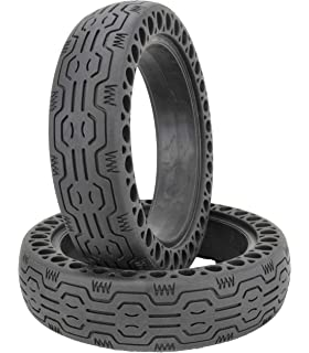 Amazon com : Rollsafe Drilled Solid Tubeless Replacement Tires for