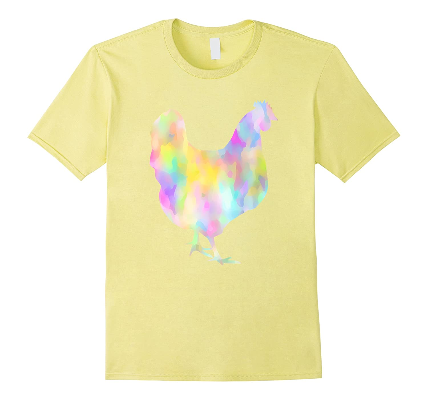 Chicken T-Shirt - Funky Watercolor Love Chickens Farm Tee-RT