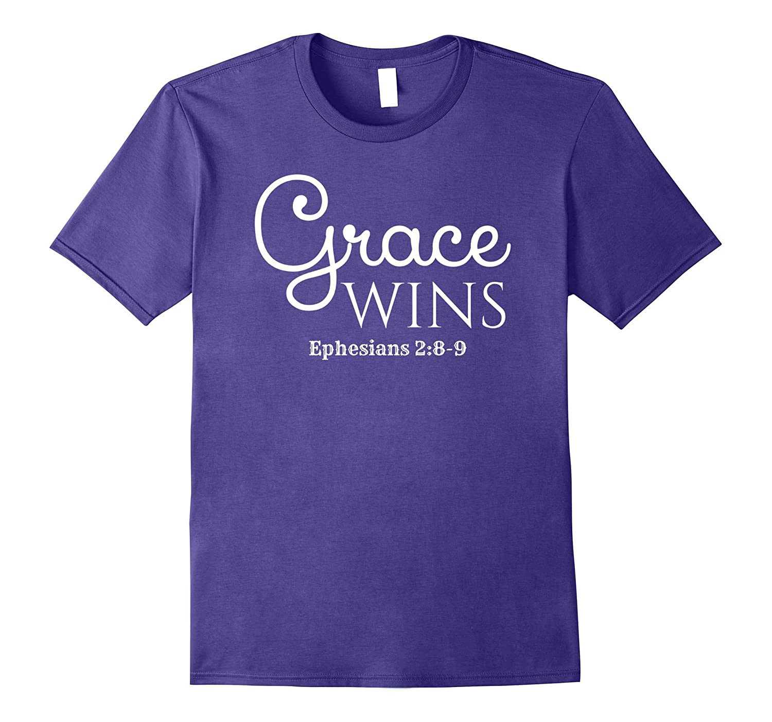 Grace Wins Christian Bible Faith T Shirt-PL
