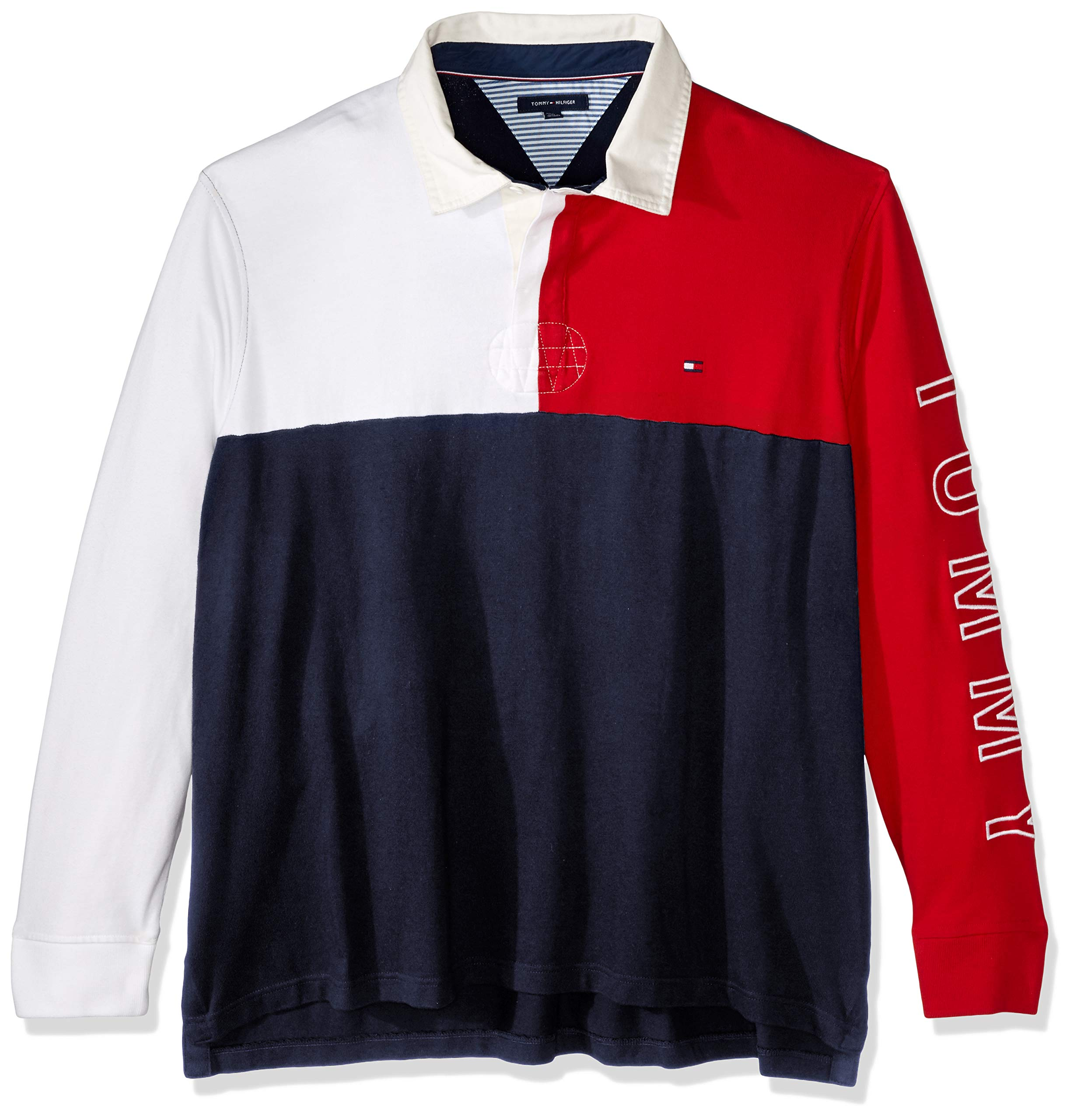 Tommy Hilfiger Men's Size Big and Tall Colin Rugby Shirt, Midnight, 5X-Large