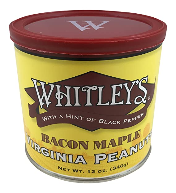 Whitleys Bacon Maple Virginia Peanuts 12 oz