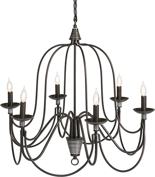 Best Choice Products 25in 6 Light Candle Chandelier Hanging
