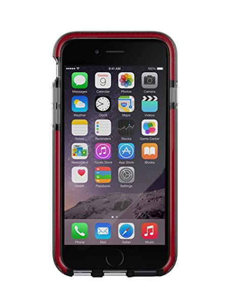 promo code 356a1 de643 Tech21 Evo Band Case for iPhone 6 - Smokey/Red