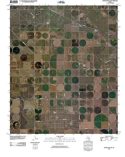 Amazon.com: Texas Maps | 2010 Denver City, TX USGS Historical ... on