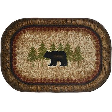 Cozy Cabin CC5282 Birch Bear Non Skid Rug 30 x46  Brown