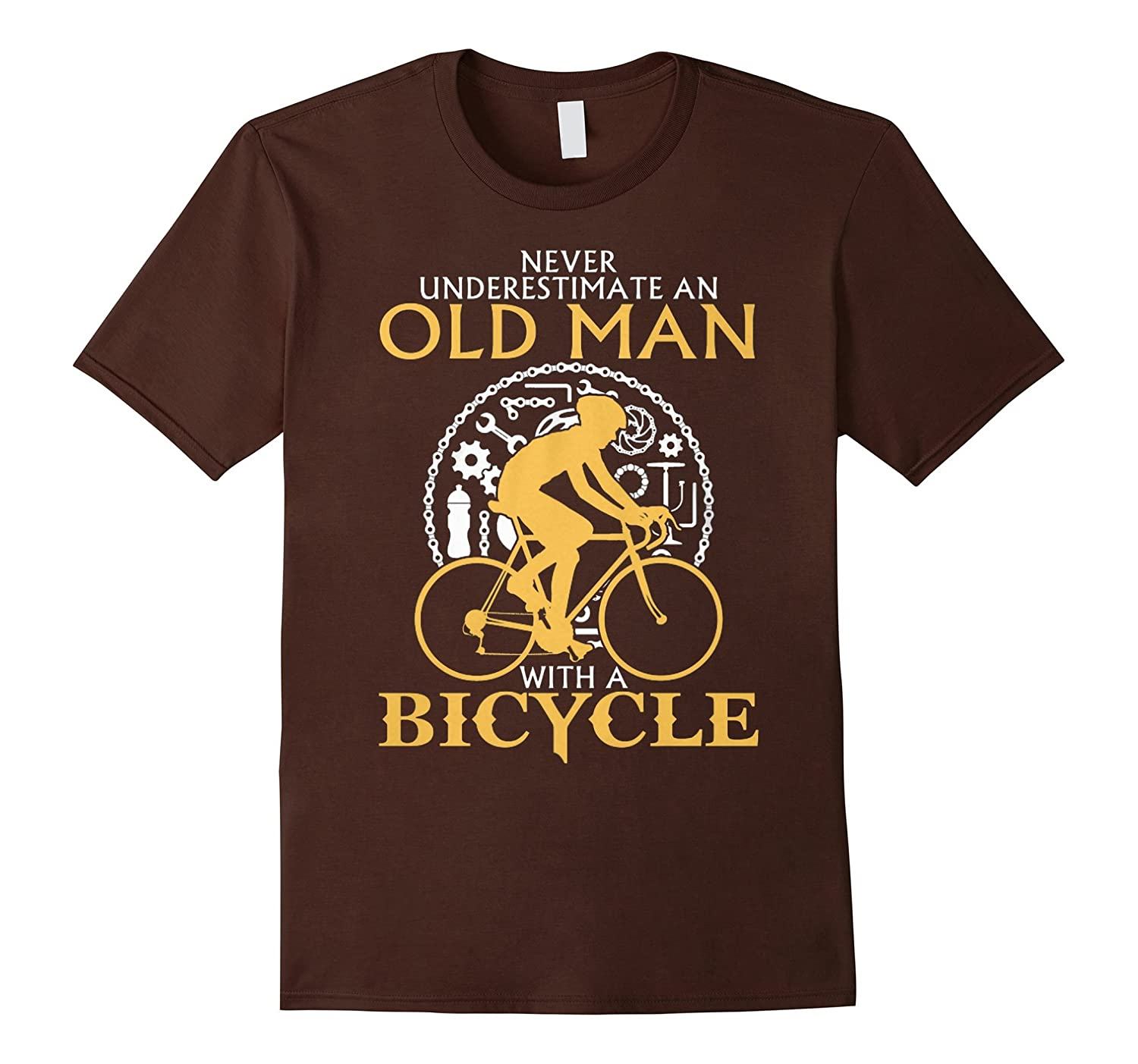 Men's Never Underestimate An Old Man With A Bicycle T Shirt-Protee