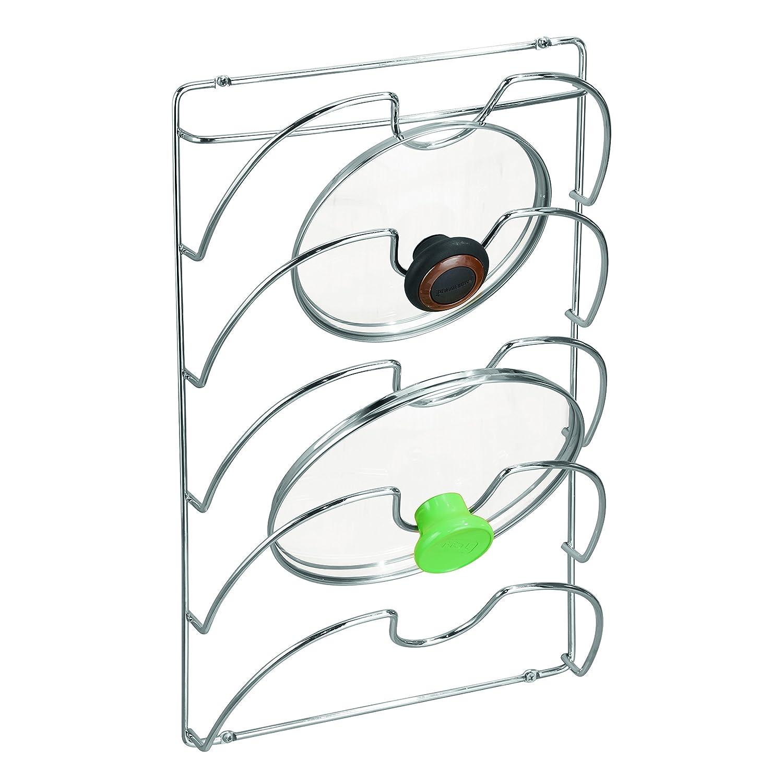 InterDesign Classico Kitchen Cabinet Storage Rack For Pot, Pan Lids, Chrome 48580