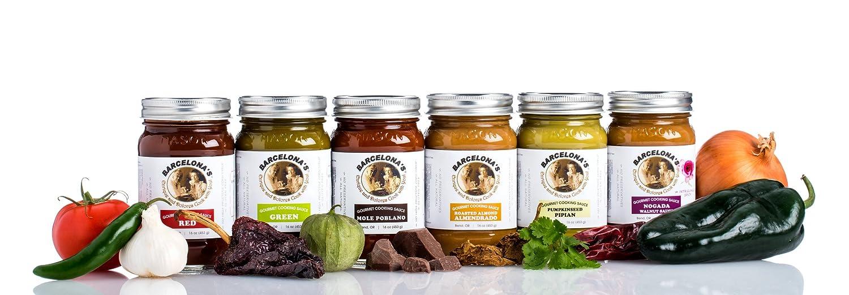 Amazon.com : Barcelonas All Natural, Gluten Free, Mole de Nuez (Nogada) Walnut Spicy Gourmet Cooking Sauce 16 Oz. Jar : Gourmet Sauces : Grocery & Gourmet ...