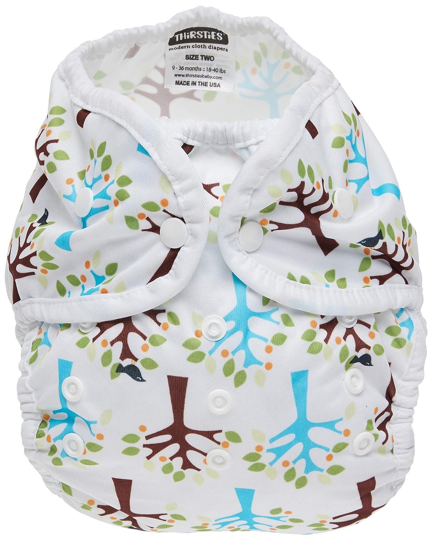Thirsties Reusable Cloth Diaper Cover, Snap Closure, Blackbird Size 2 (18-40 Pound)