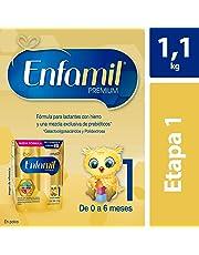 Fórmula Láctea Infantil, Enfamil Premium Etapa 1 para Bebés de 0 a 6 meses, Caja de 1,100 gramos