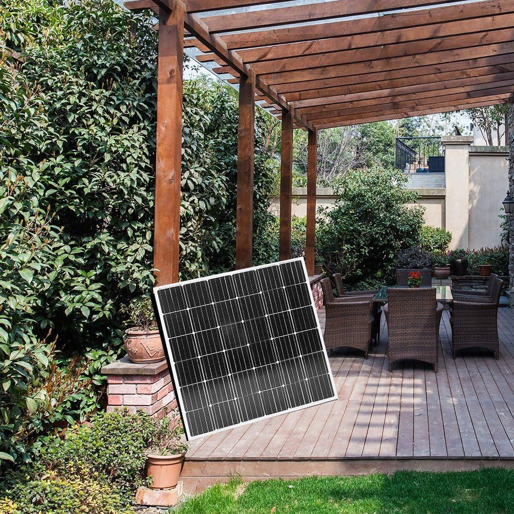 Dokio - Panel Solar monocristalino (150 W, 12 V): Amazon.es: Jardín