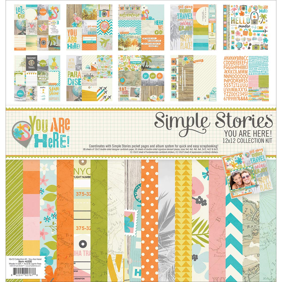 Simple Stories You are Here Collection 12 X 12 Collection Kit (12 Pack)