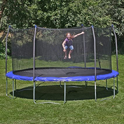 b359527fd6255 Image Unavailable. Image not available for. Color  Skywalker Skywalker  Trampolines 14-ft. Round Trampoline with Enclosure ...