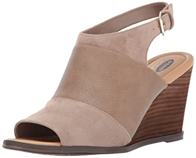 Dr. Scholls Shoes Womens Peaceful Platform Sandal, Putty Smooth/Microfiber, ...